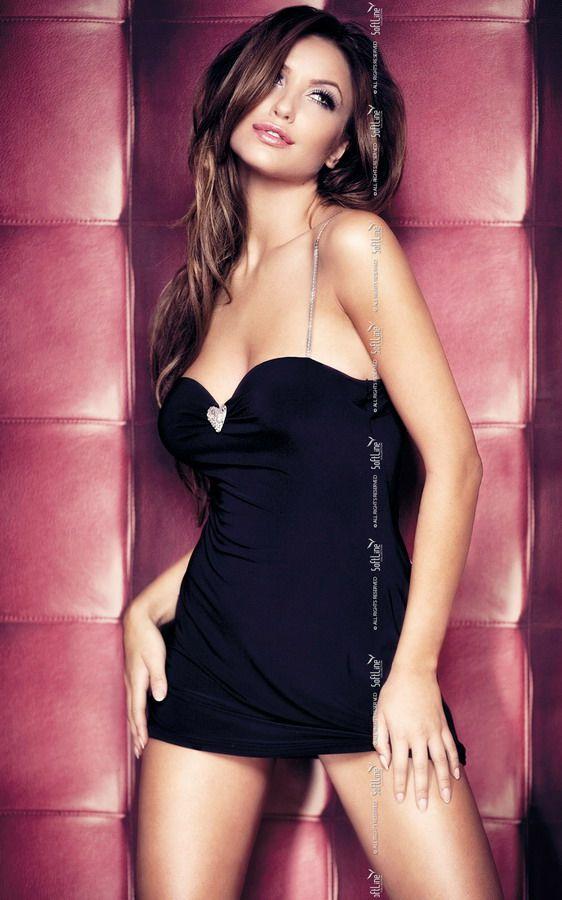 Черное эротичное платье Elly - фото 130813