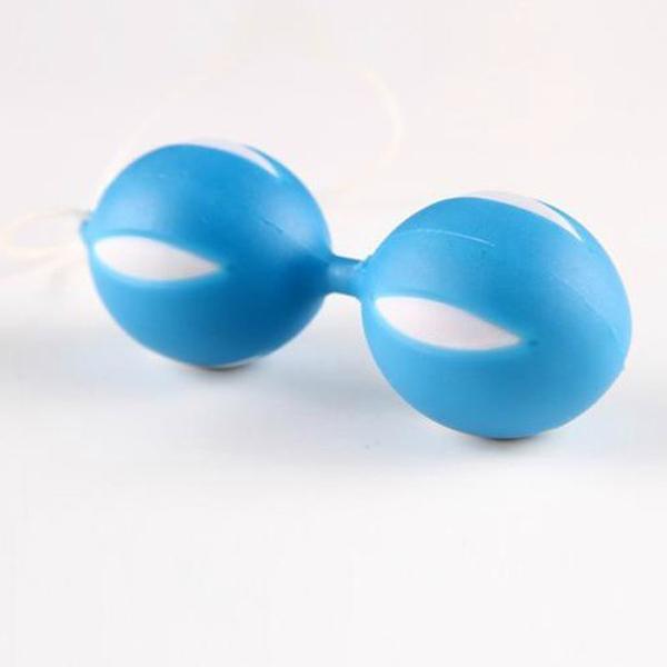 Голубые вагинальные шарики SMART BALLS в блистере - фото 265134