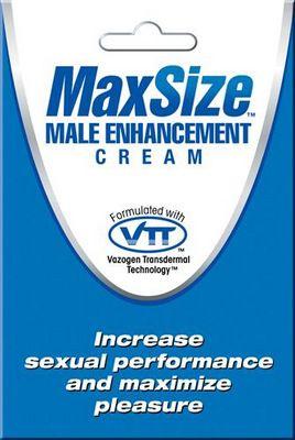 Пробник мужского крема для усиления эрекции MAXSize Cream - 4 мл. - фото 6360
