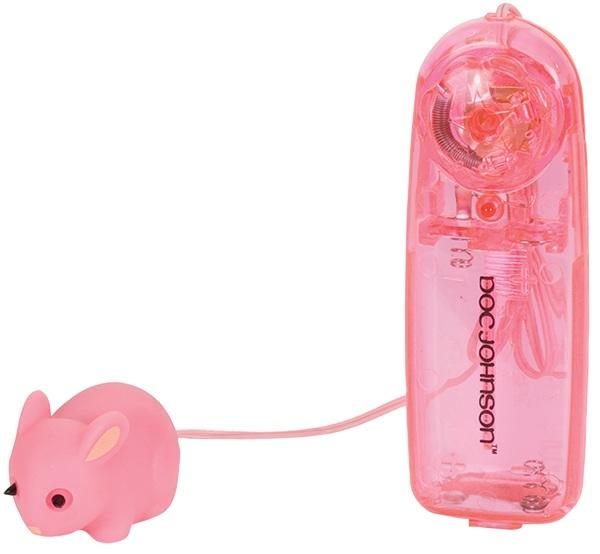 Розовый виброкролик для клитора - фото 313142