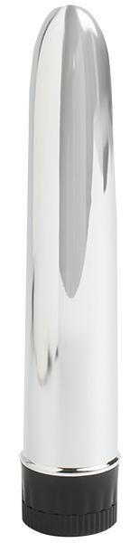Серебряный вибратор - 16,5 см. - фото 238381