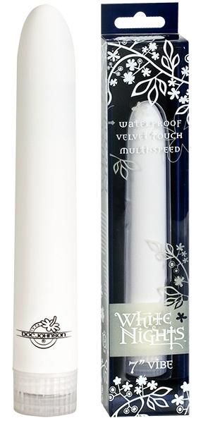 Белый бархатистый массажер WHITE NIGHTS - фото 205235
