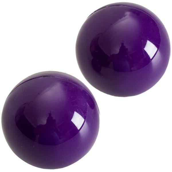 Фиолетовые вагинальные шарики BEN-WA - фото 313199