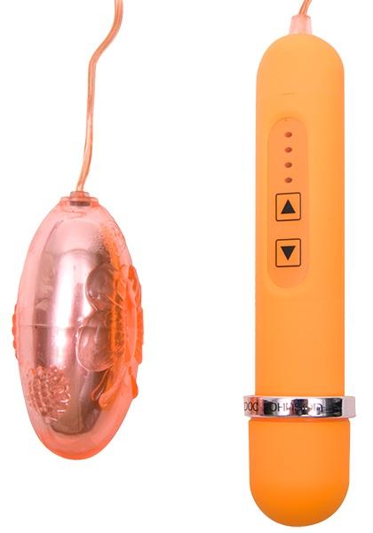 Персиковый вибростимулятор LOVE BUG BULLET - фото 313347