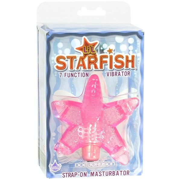 Розовый стимулятор клитора в форме звезды LIL STARFISH - фото 313367