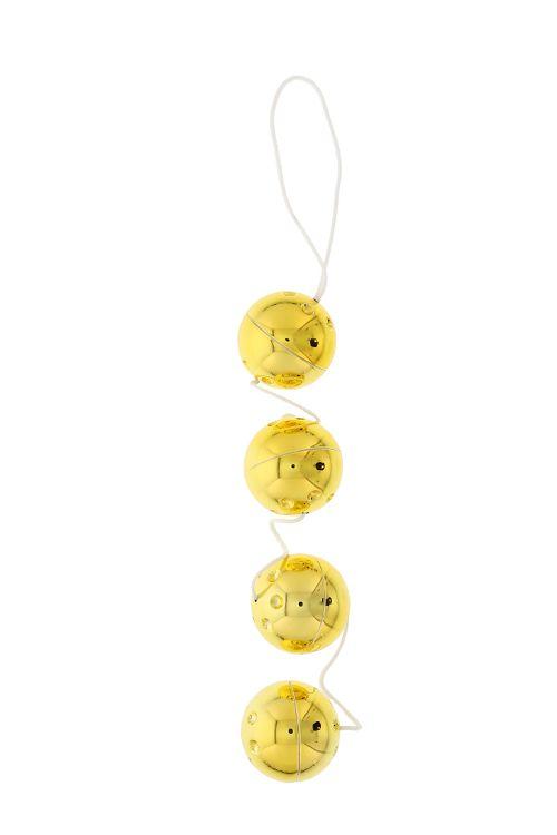 Четыре золотистых вагинальных шарика - фото 128705