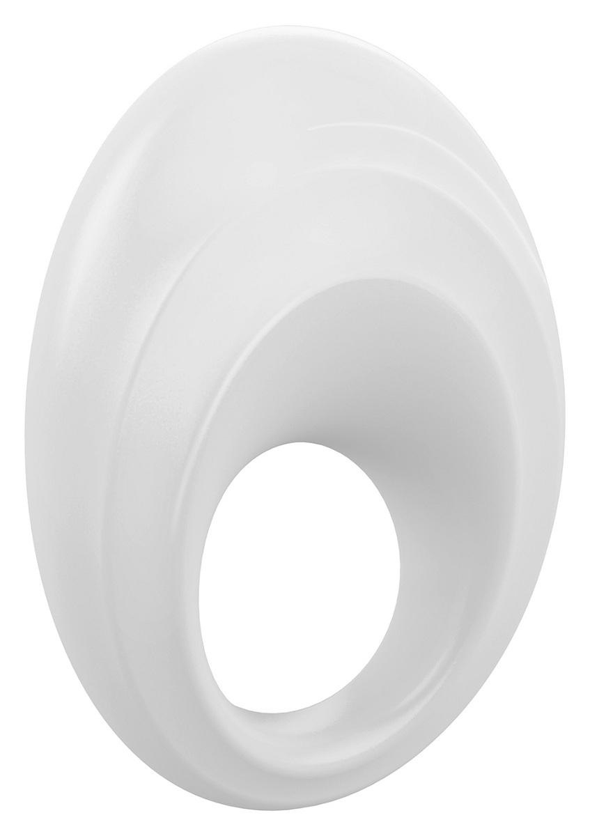 Белое эрекционное кольцо B5 с вибрацией - фото 517034
