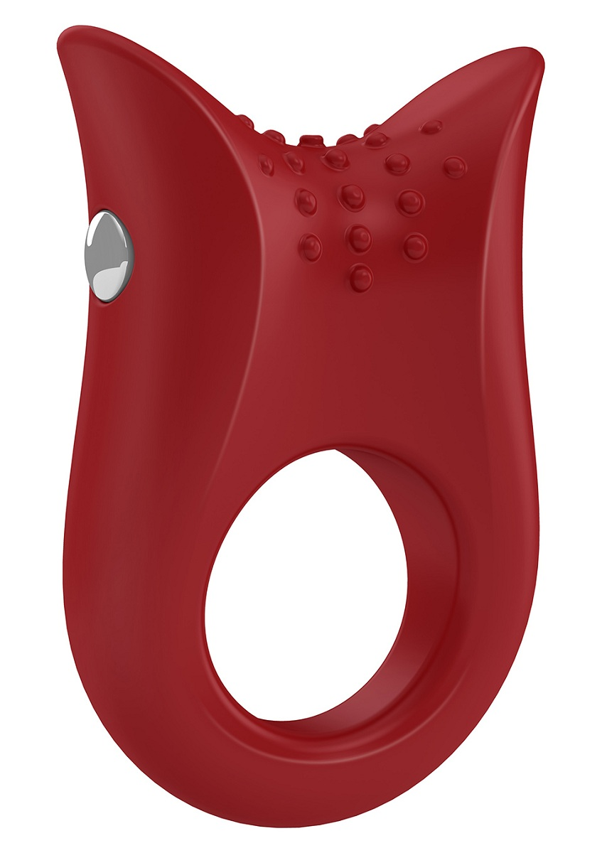 Красное эрекционное виброкольцо B2 - фото 704320