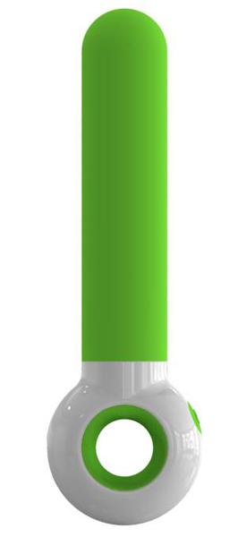 Зелено-белый вибратор O-zone