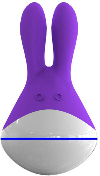 Лиловый вибромассажер Улыбчивая зайка Totoro - фото 1236657