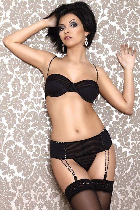 Чёрный секси-комплект из 3-х предметов - фото 704526