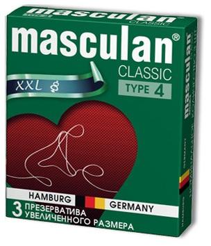 Розовые презервативы Masculan Classic XXL увеличенного размера - 3 шт.