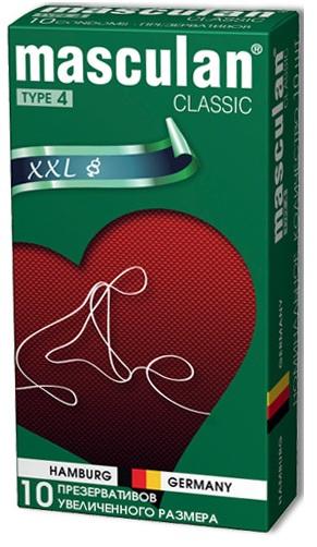 Розовые презервативы Masculan Classic XXL увеличенного размера - 10 шт.