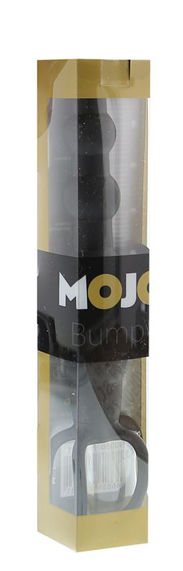 Черная ёлочка-насадка для двойного проникновения Mojo Bumpy - 15 см. - фото 131471