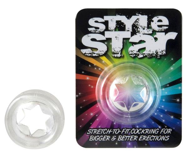 Прозрачное эрекционное кольцо STYLE STAR COCKRING - фото 131474