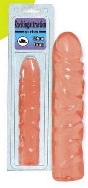 Нежно-розовый фаллоимитатор -19 см. - фото 207932
