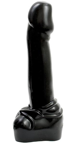 Черный гигантский фаллоимитатор XL - 38,1 см. - фото 239672