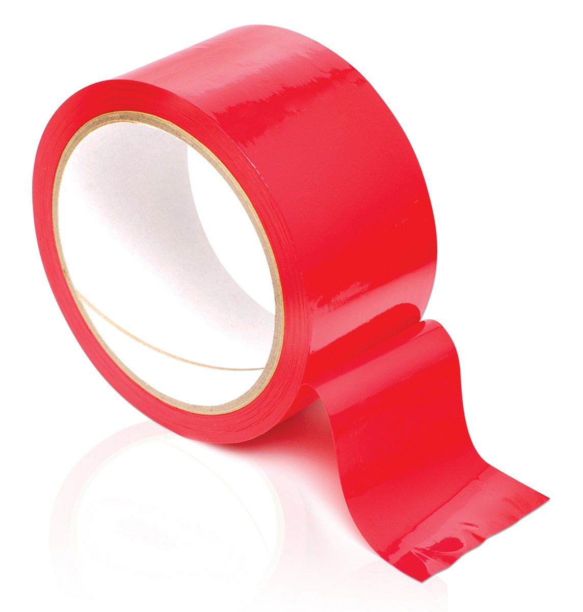 Красная самоклеющаяся лента для связывания Pleasure Tape - 10,7 м. - фото 131625