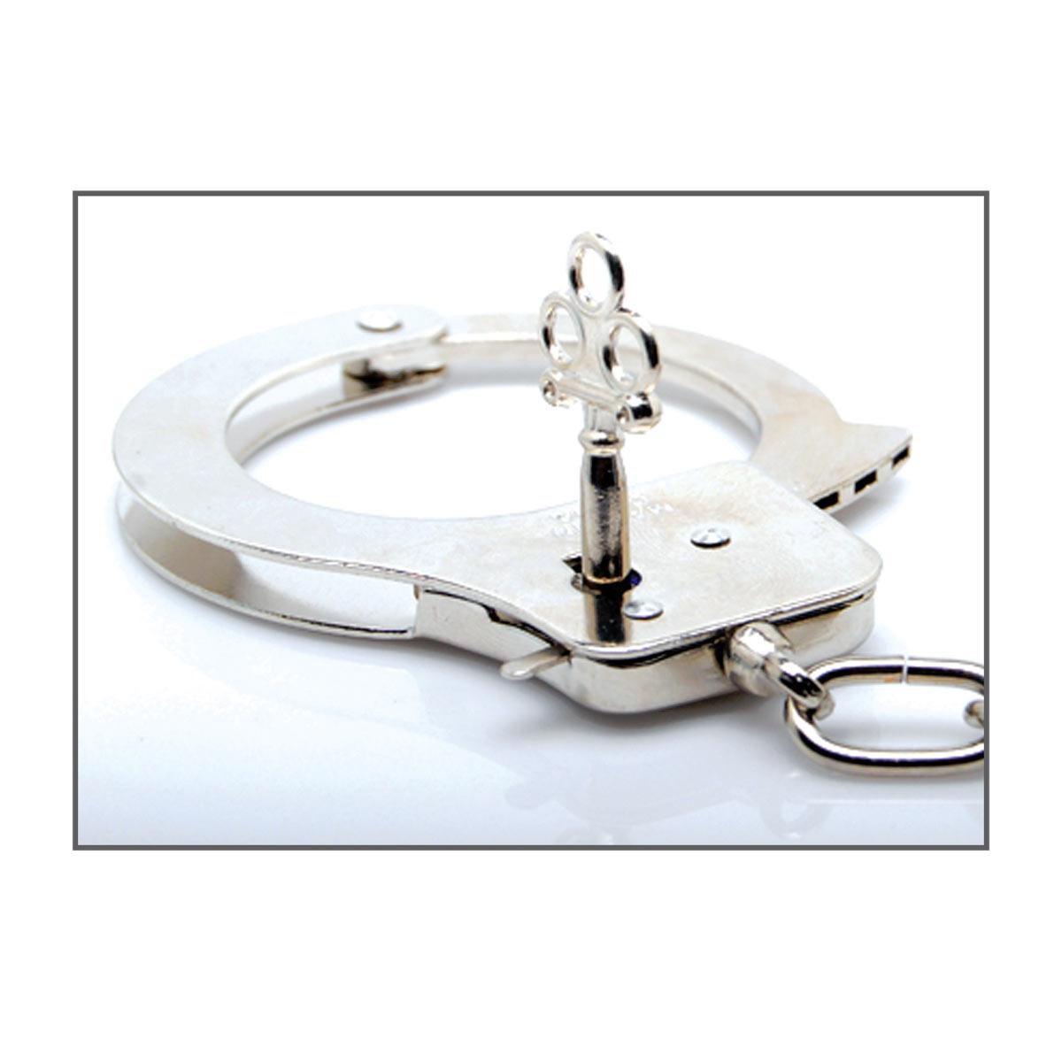 Металлические наручники Metal Handcuffs с ключиками - фото 131706