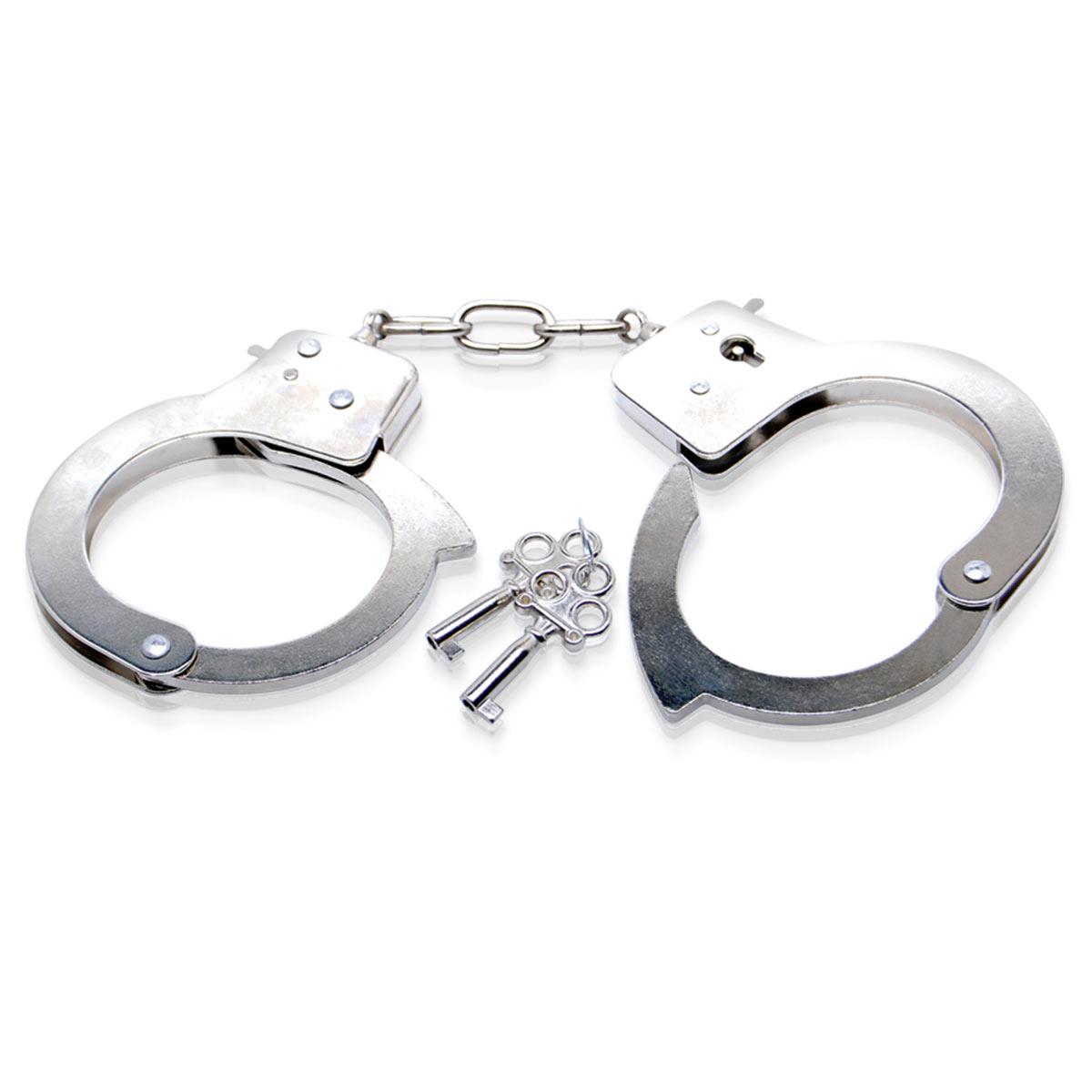 Металлические наручники Metal Handcuffs с ключиками - фото 85892