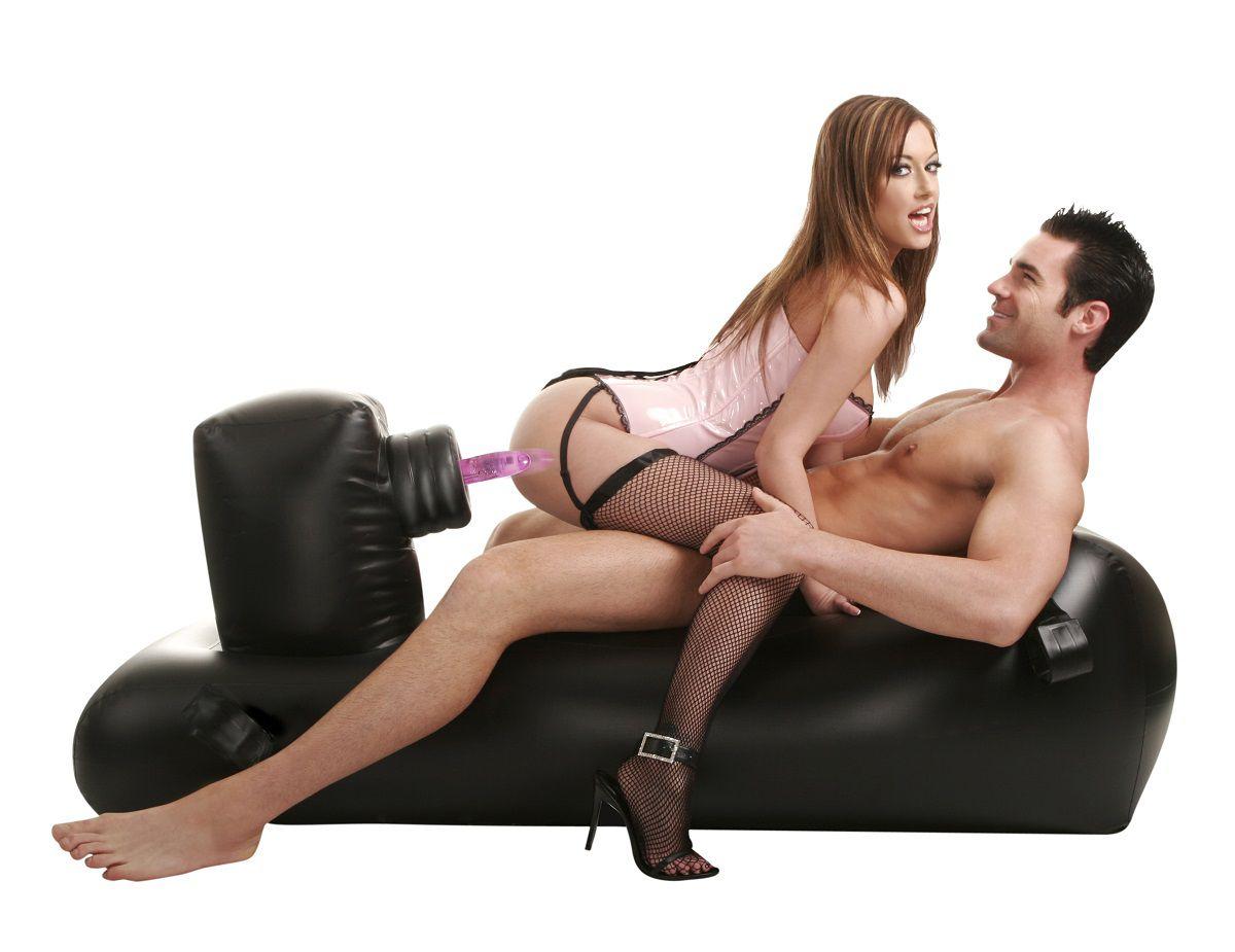 Надувная кушетка с насадками Inflatable Love Lounger - фото 294101