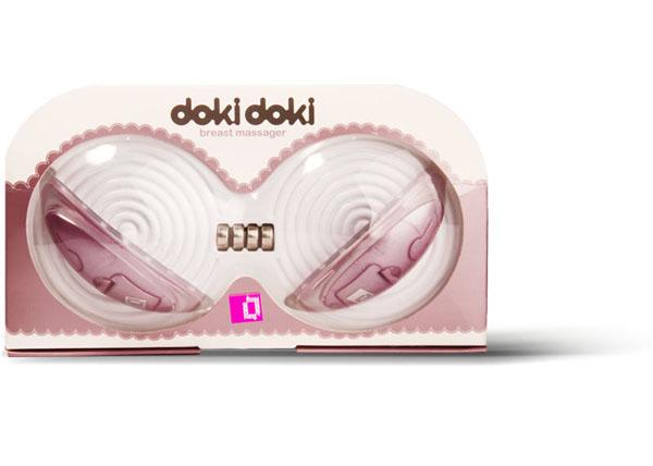 Розовые вставки в бюстгалтер для стимуляции груди с вибрацией Doki Doki - фото 239851