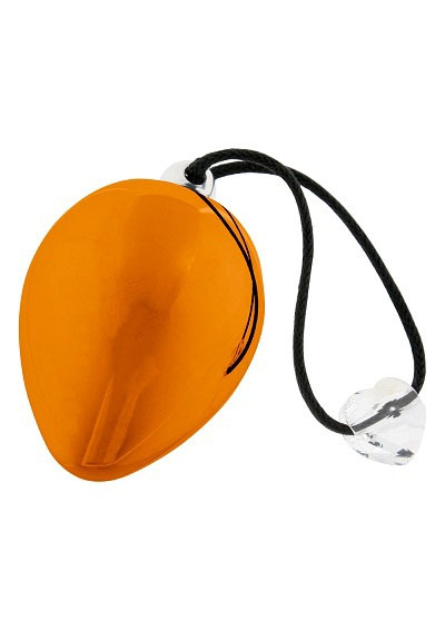 Оранжевое виброяичко с кристаллом Swarovski EggXitting, 3.8 см - фото 208173