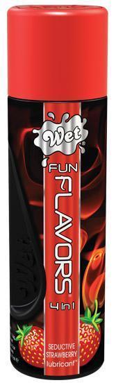 Разогревающий лубрикант Fun Flavors 4-in-1 Sexy Strawberry с ароматом клубники - 89 мл. - фото 223281