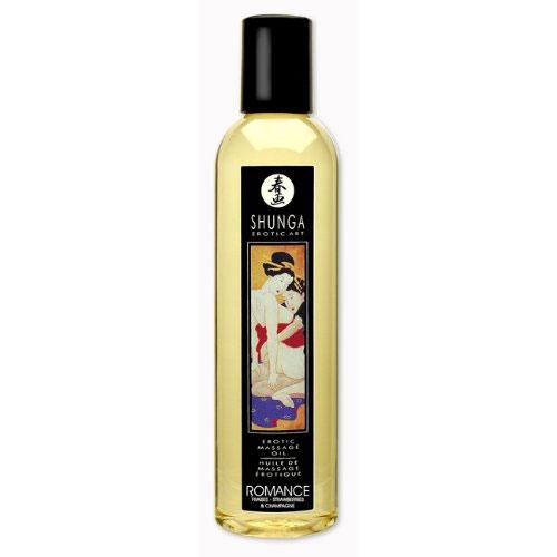 Массажное масло с ароматом клубники и шампанского Romance - 250 мл. - фото 131813