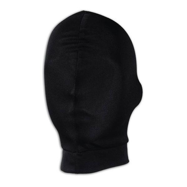 Черная глухая маска на голову - фото 132555