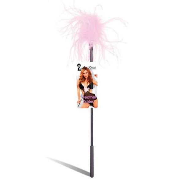 Ласкающая палочка с перьями розового цвета - фото 131860