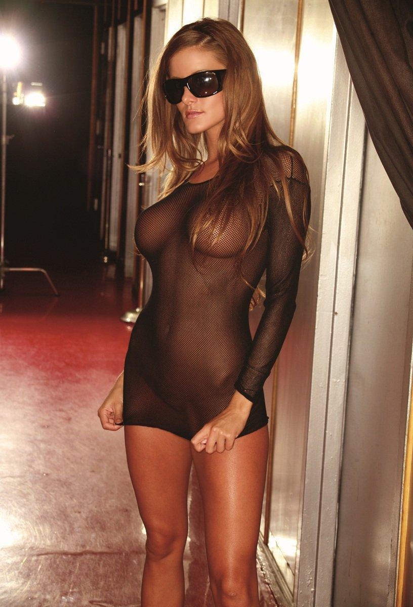 Ультракороткое платье из прозрачной сетки - фото 131975