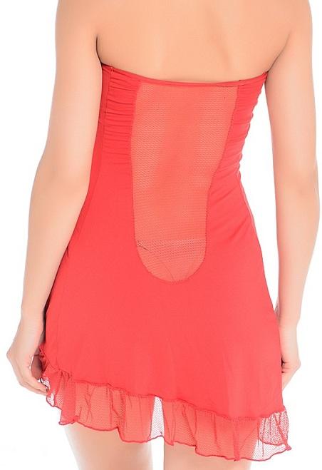 Соблазнительное платье без бретелей - фото 131994