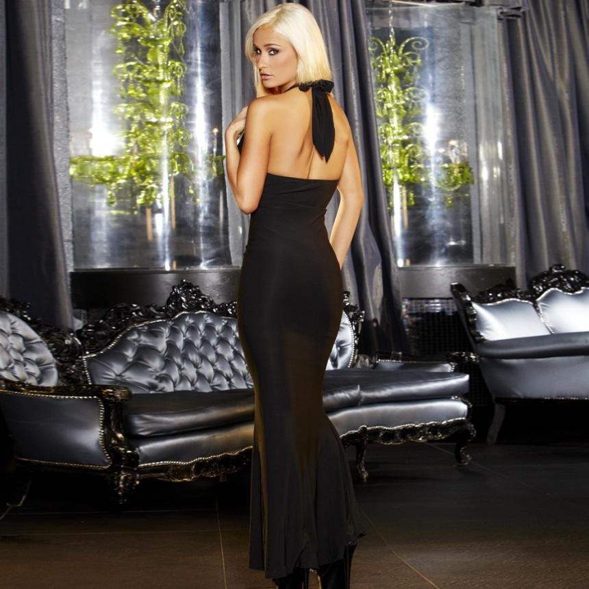 Вечернее черное платье в пол от Hustler - фото 132179