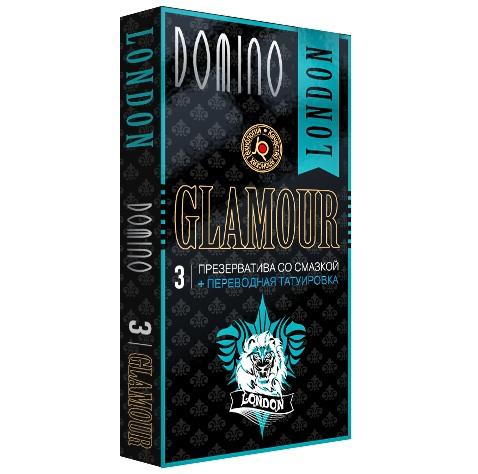 Презервативы  DOMINO Glamour London - 3 шт. - фото 1238718