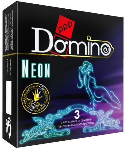 Светящиеся в темноте презервативы Domino Neon - 3 шт.