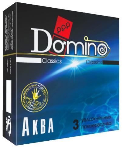 Презервативы Domino  Аква  - 3 шт. - фото 75962