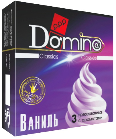 Ароматизированные презервативы Domino  Ваниль  - 3 шт. - фото 132285