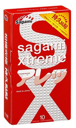 Утолщенные презервативы Sagami Xtreme Feel Long с точками - 10 шт. - фото 7431