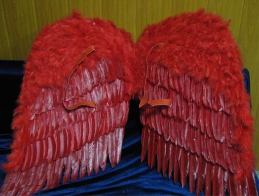 Королевские перьевые крылья красного цвета - фото 240006