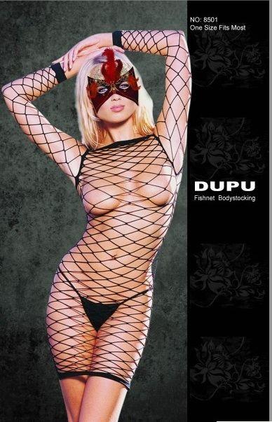 Платье-сетка с длинными рукавами Dupu - фото 706554