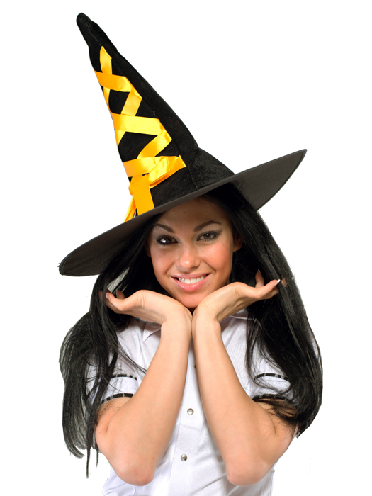 Шляпа ведьмы оранжевая - фото 294857