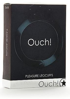 Черные оковы на ноги Pleasure legcuffs - фото 132454