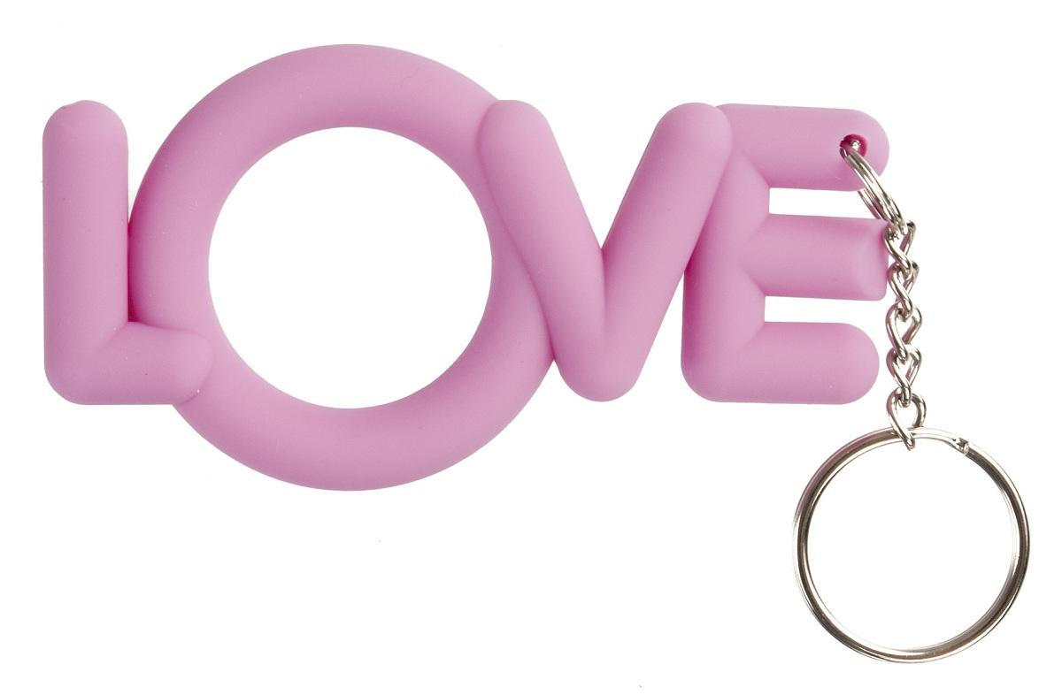 Розовое эрекционное кольцо-брелок Love Cocking  - фото 706728