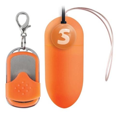 Оранжевое радиоуправляемое виброяйцо Rechargeable Vibrating egg - фото 209552