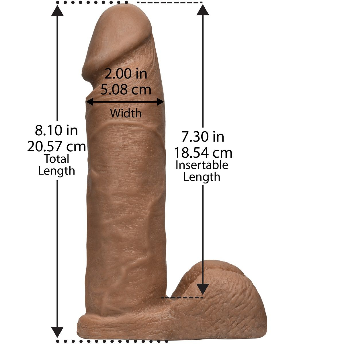 Насадка-реалистик для трусиков Харнесс Vac-U-Lock 8  ULTRASKYN Cock - 20,6 см. - фото 132494
