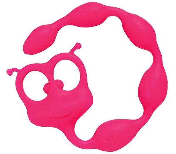 Розовая анальная цепочка Flexy Felix - 31 см. - фото 132499