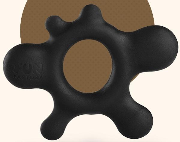 Черное эрекционное кольцо Rain - фото 1144375