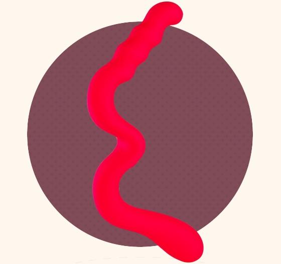 Красный дилдо для лесбийских игр New Wave - фото 132543