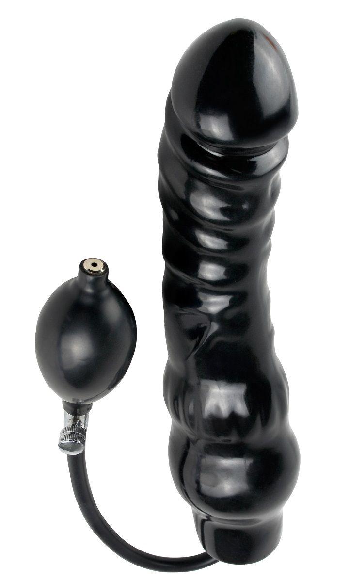 Фаллоимитатор с функцией подкачки Inflatable Ass Blaster - 23 см. - фото 823332